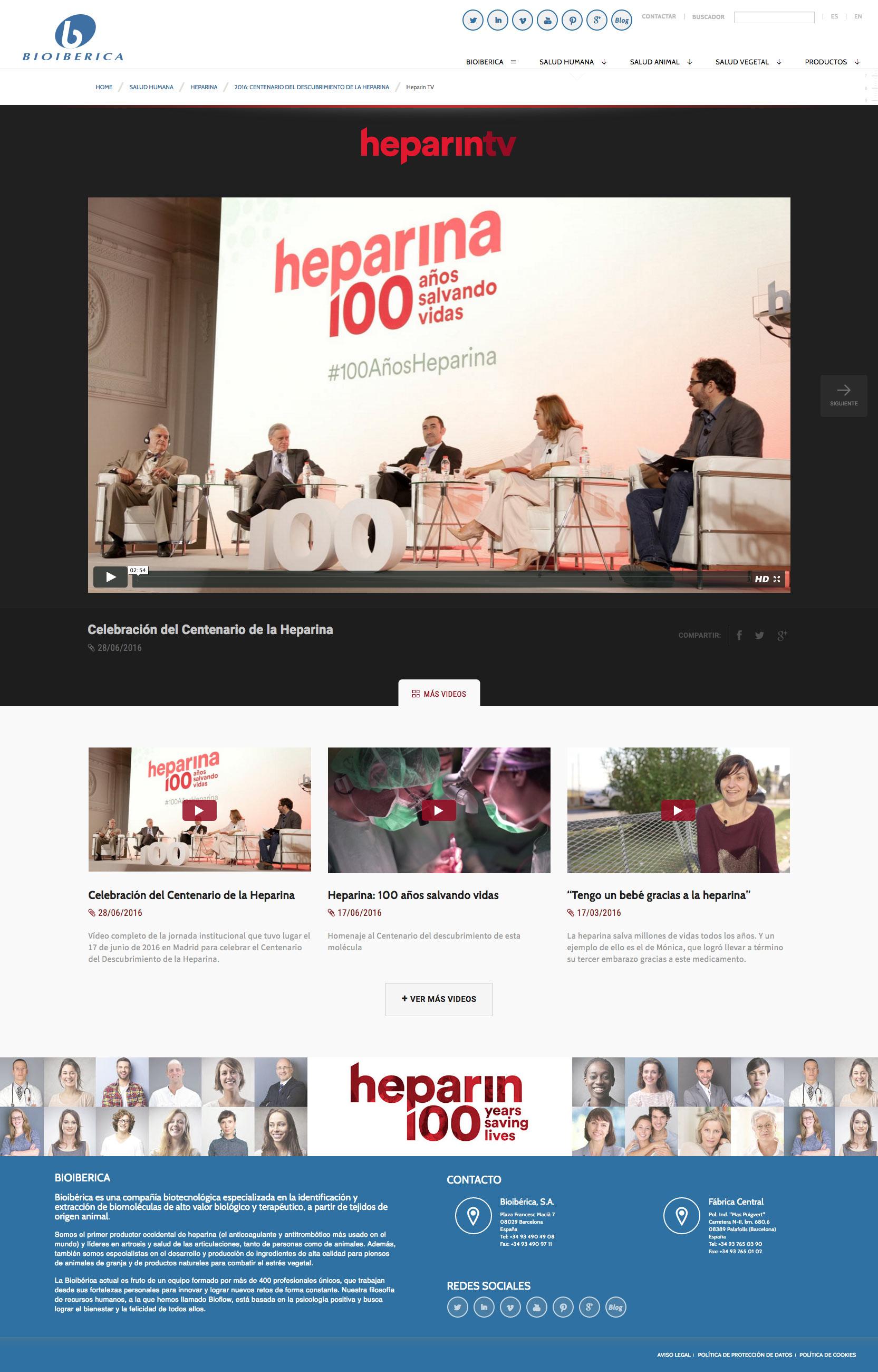 Heparin TV - Canal de vídeos de Bioibérica