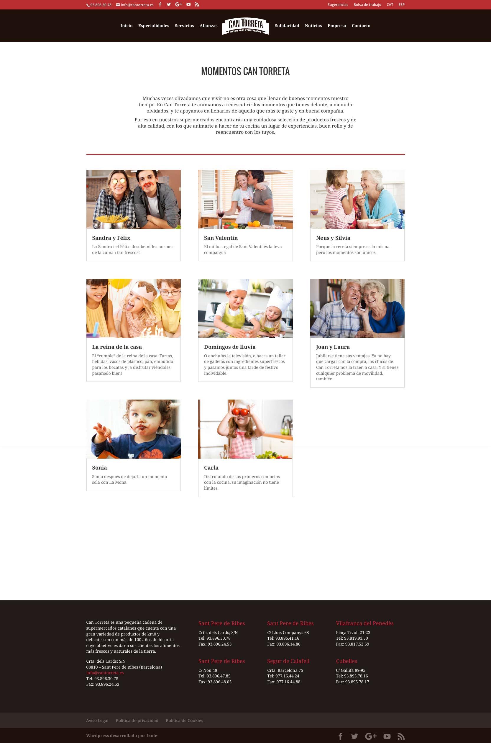 Diseño web WordPress para Can Torreta