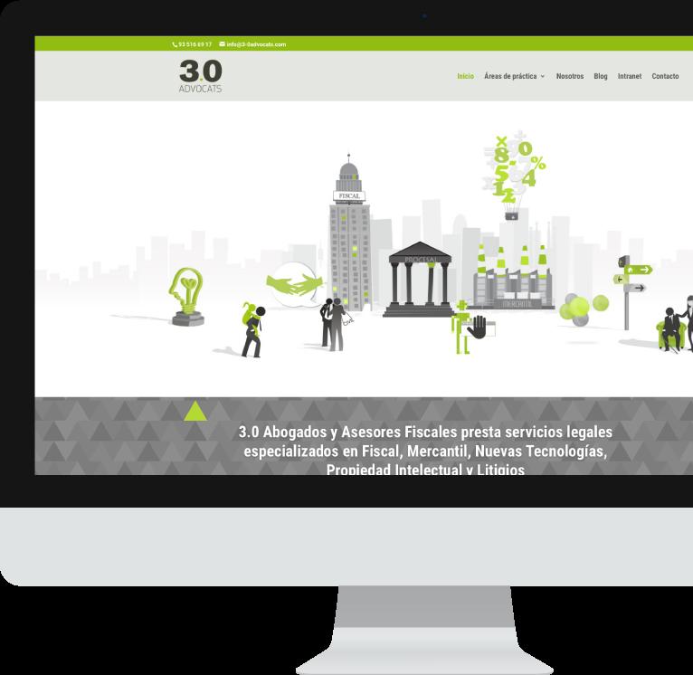Diseño web WordPress para 3.0 Advocats