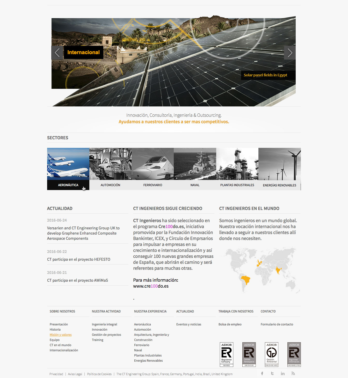 Home de Bioibérica - Programación web a medida