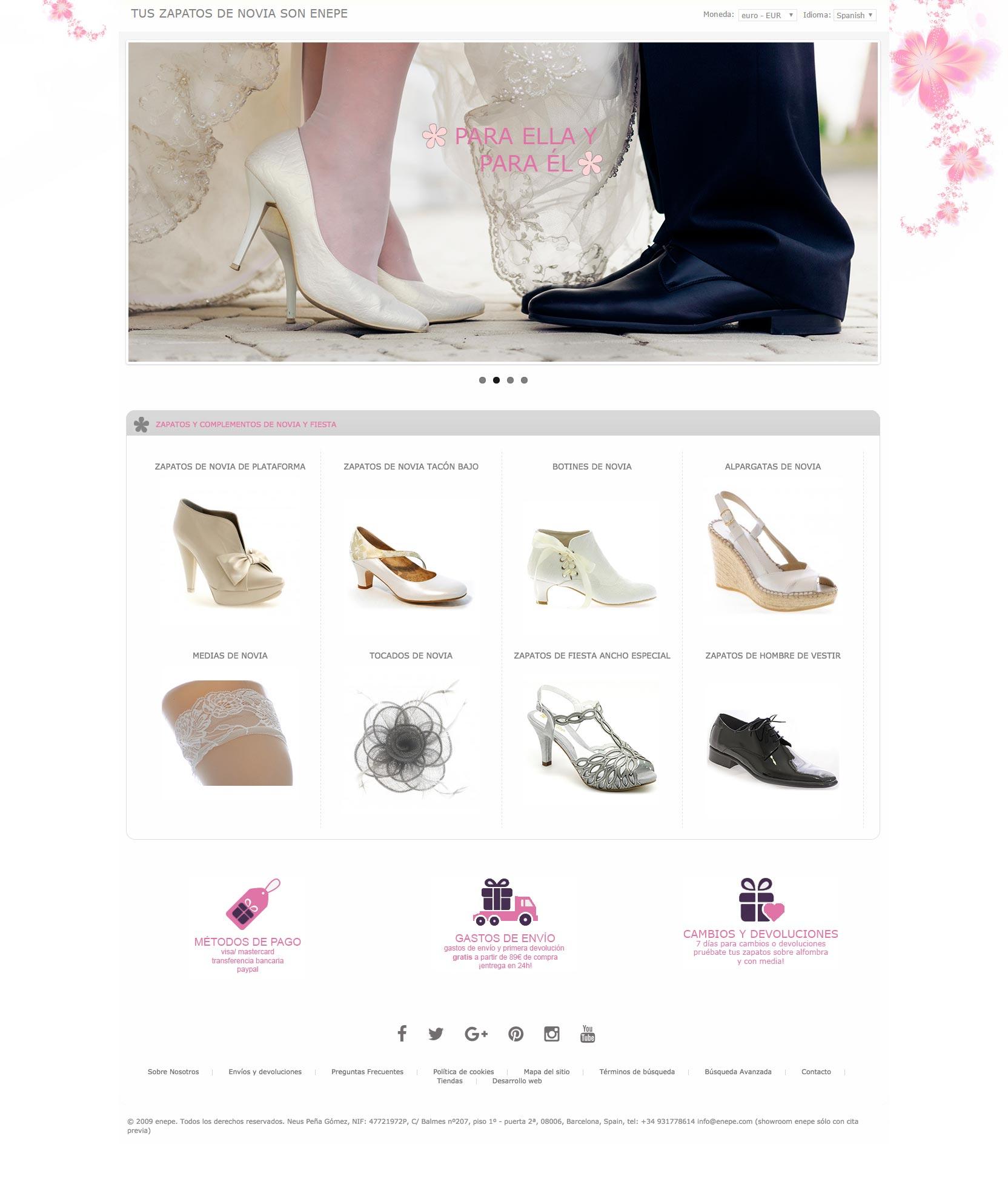 Diseño de tienda online para Enepe