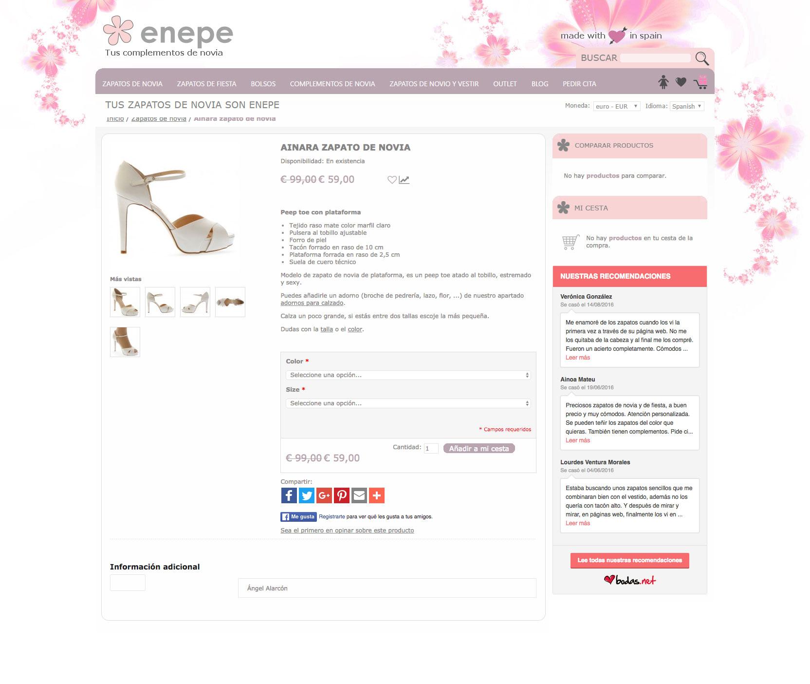 Diseño e-commerce para Enepe