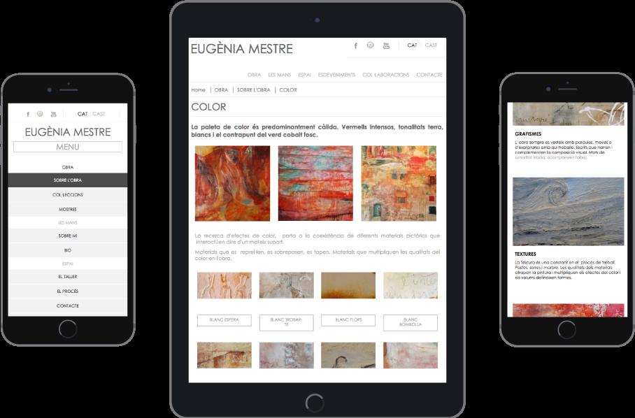 Responsive - Diseño web para Eugenia Mestre