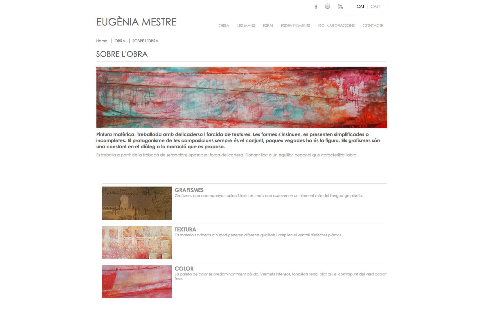 Diseño web para Eugenia Mestre