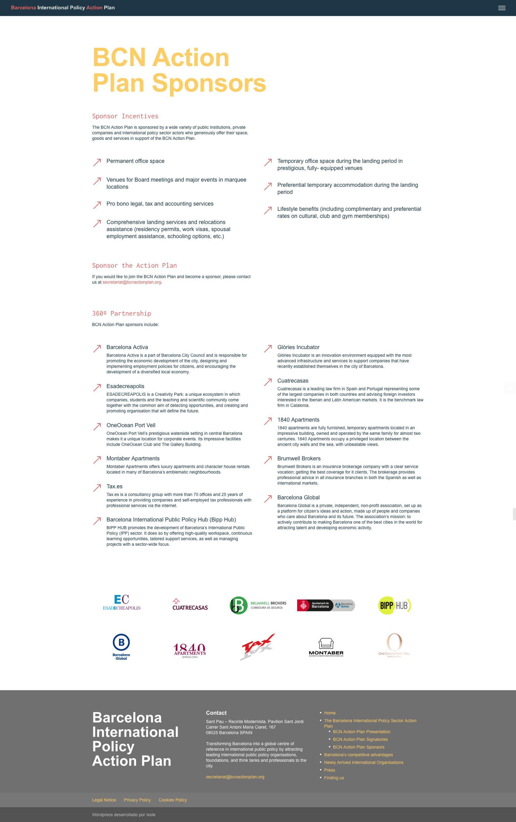 Diseño web WordPress para Barcelona Action Plan