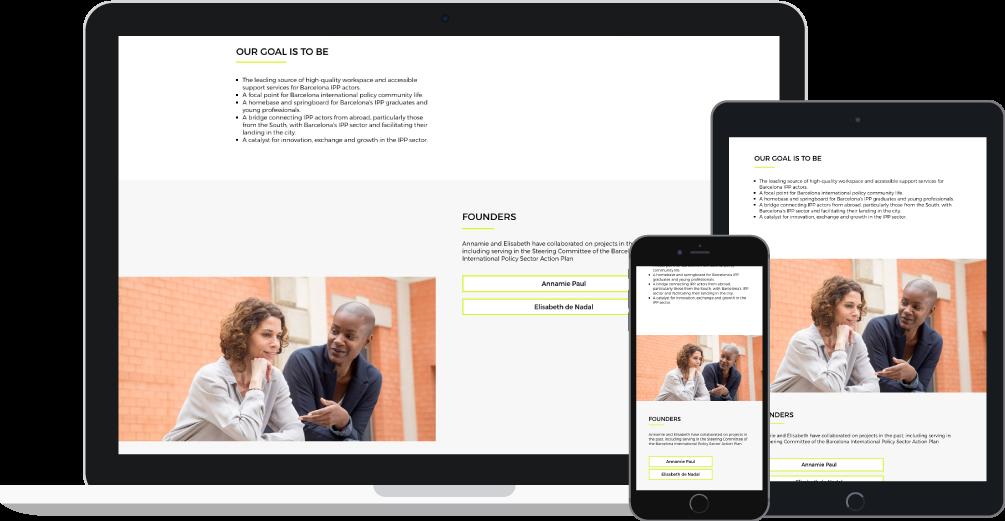 Responsive - Diseño web WordPress para Bipp-Hub