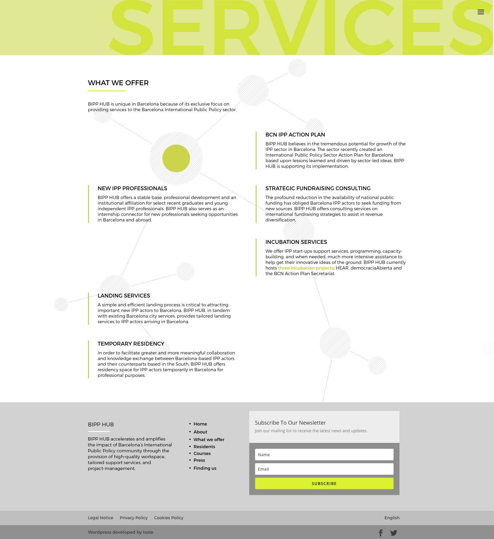 Diseño web WordPress para Bipp-Hub