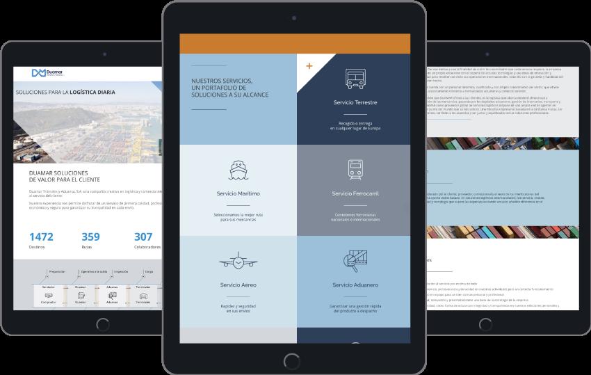 Responsive - Diseño web WordPress para Duamar