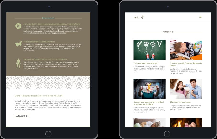 Responsive - Diseño web WordPress para Nairem